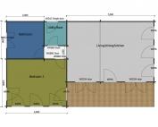 Stonechat mobile home/caravan floor plan