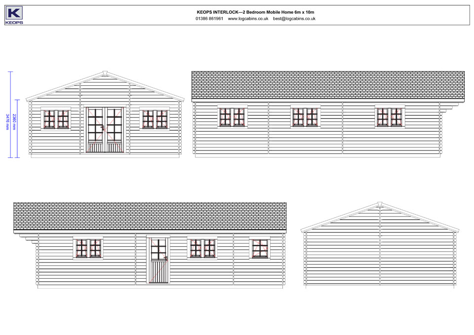 Sandpiper mobile home/caravan elevation drawings