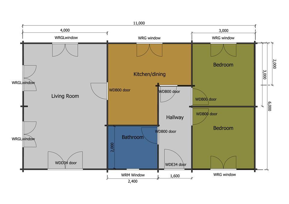Avocet mobile home/caravan plan