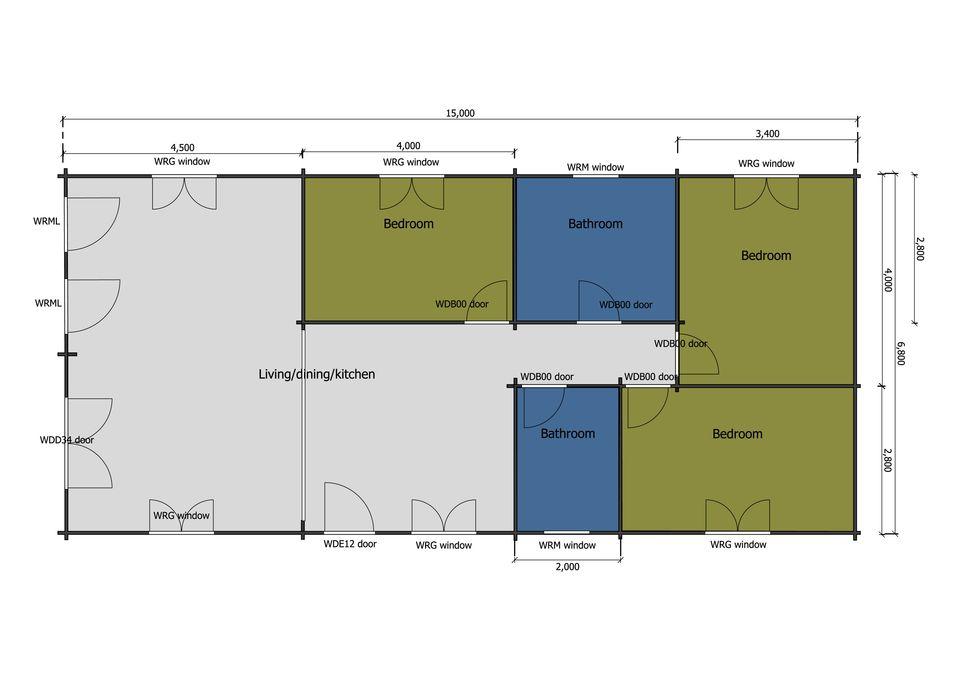 Falcon mobile home/caravan floor plan