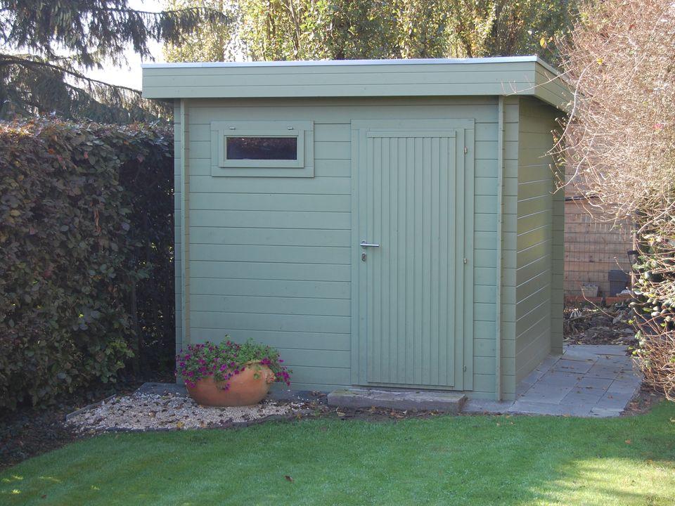 Baldwin Keops Moderna flat roof log cabin
