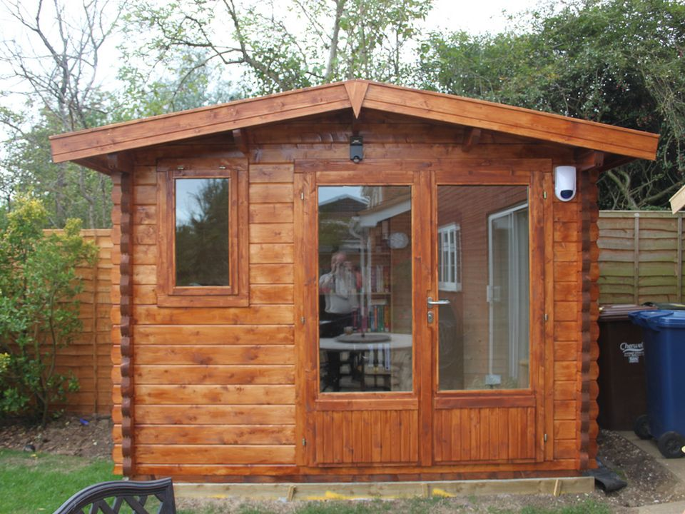 Byrne Classic apex roof log cabin