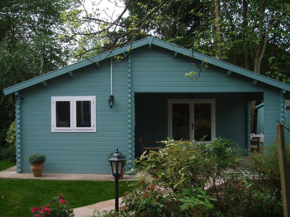 Heather Classic apex roof log cabin