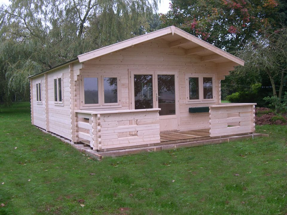 Nelson Classic apex roof log cabin