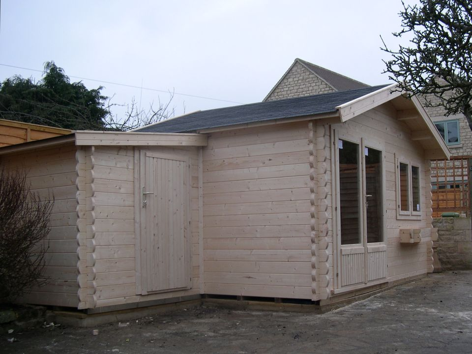Nursery Classic apex roof log cabin