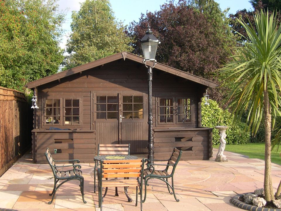Sewell Classic apex roof log cabin