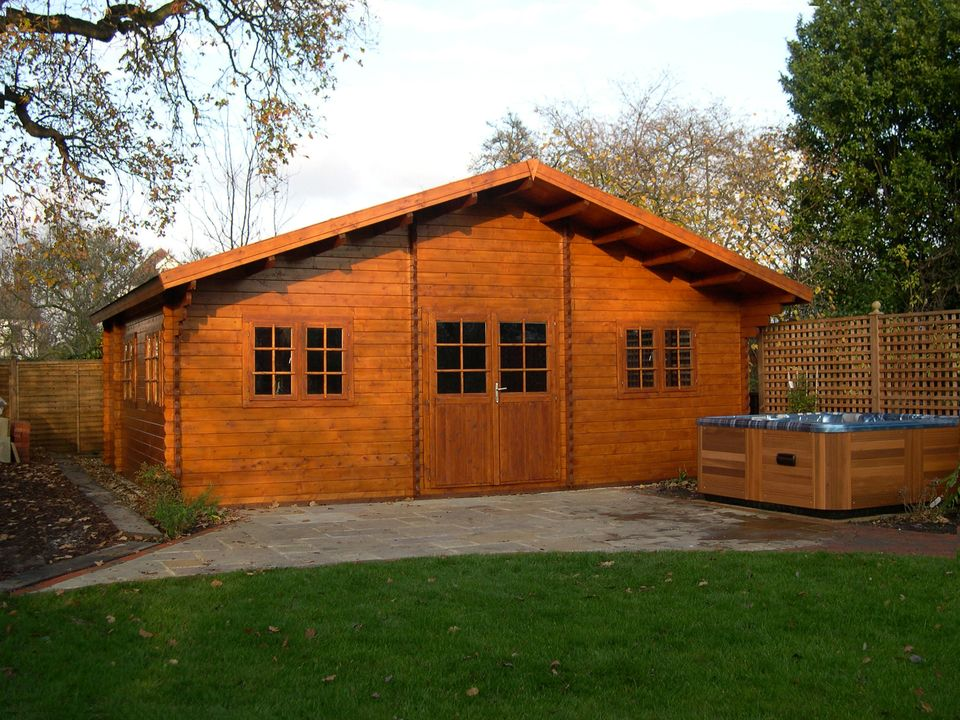 Stewart Classic apex roof log cabin