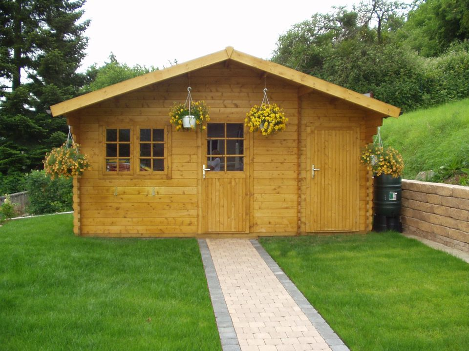 Tilley Classic apex roof log cabin