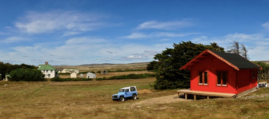 Keops Forest Lodge delivered to the Falkland Islands