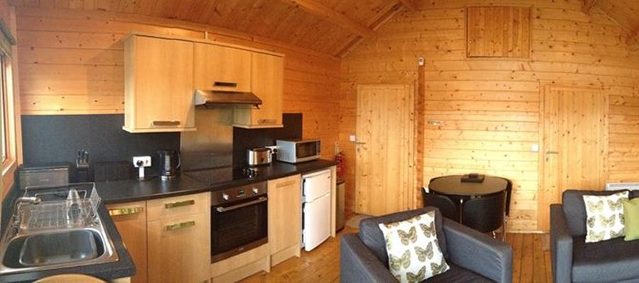 Kitchen and living area in the Forest Lodge