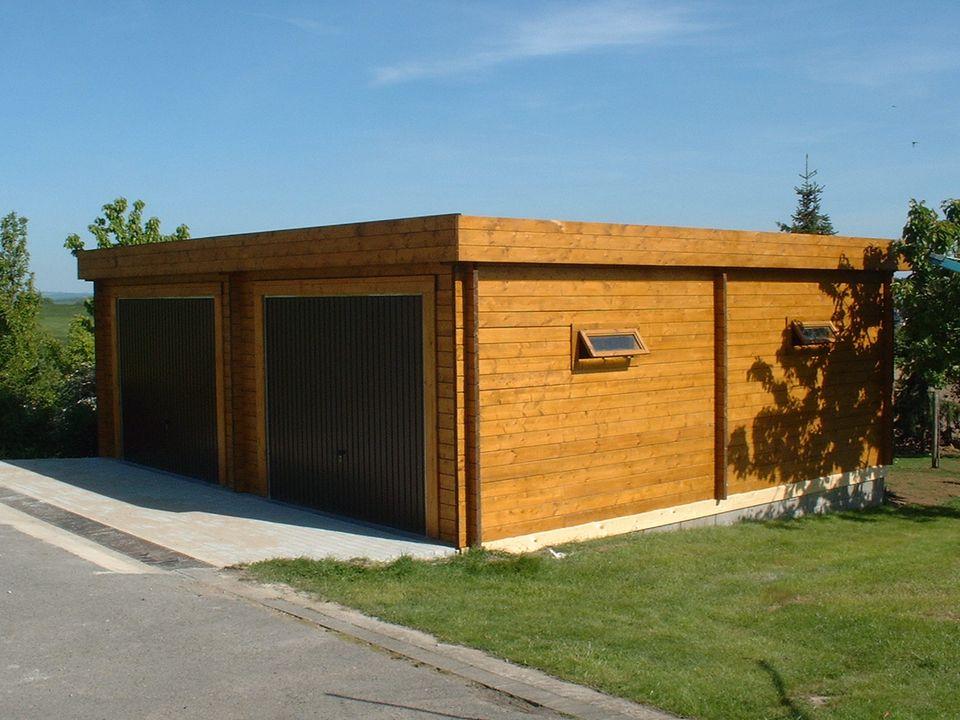 Alder Keops Moderna flat roof double garage