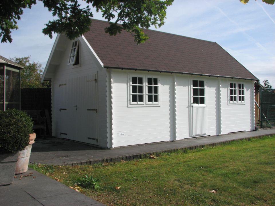 MacMillan Keops steep roof timber single garage