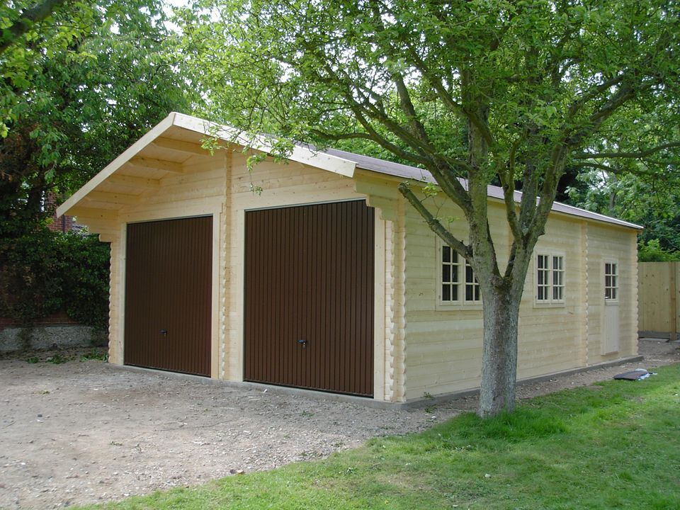 Stevenson Classic double timber garage
