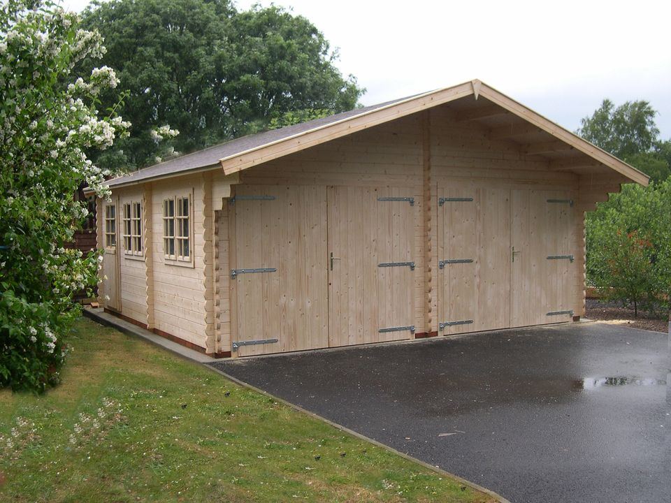 Wood Keops Classic double timber garage