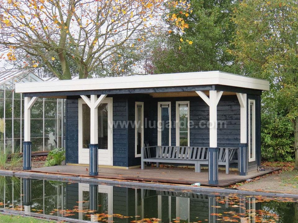 Lugarde Prima Bremen flat roof summerhouse with canopy