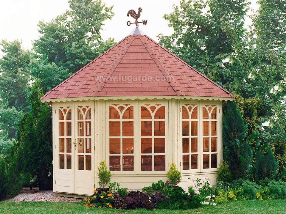 Lugarde Prima Grand Lady octagonal summerhouse 350cm