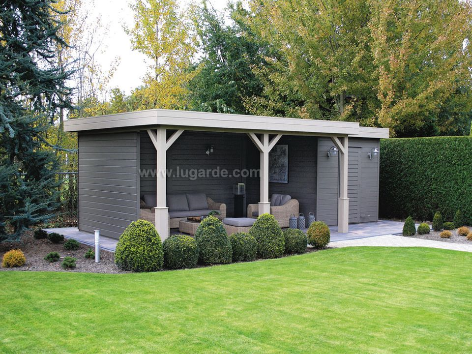 Lugarde Prima Jake flat roof summerhouse with canopy