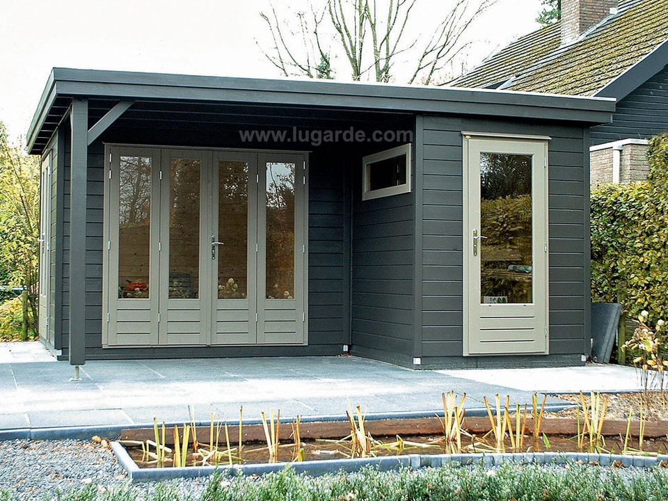 Lugarde Prima Linda flat roof summerhouse with canopy