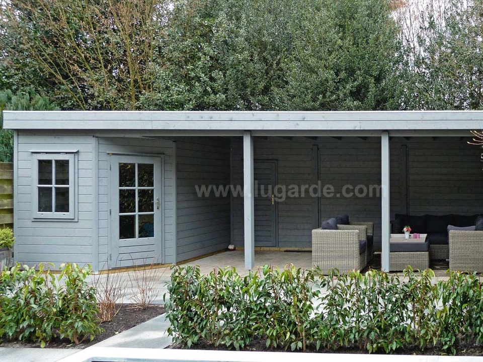 Lugarde Prima Lisa flat roof summerhouse with canopy