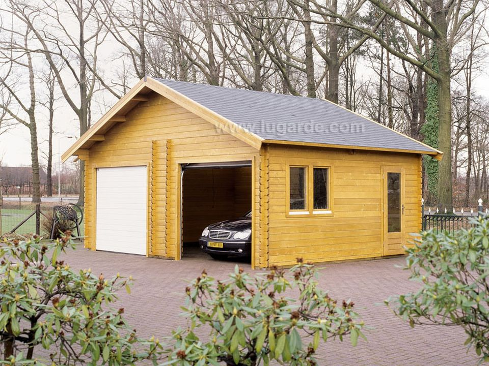 Lugarde Kent double wooden garage