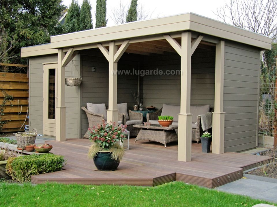 Lugarde Prima Lauren flat roof summerhouse