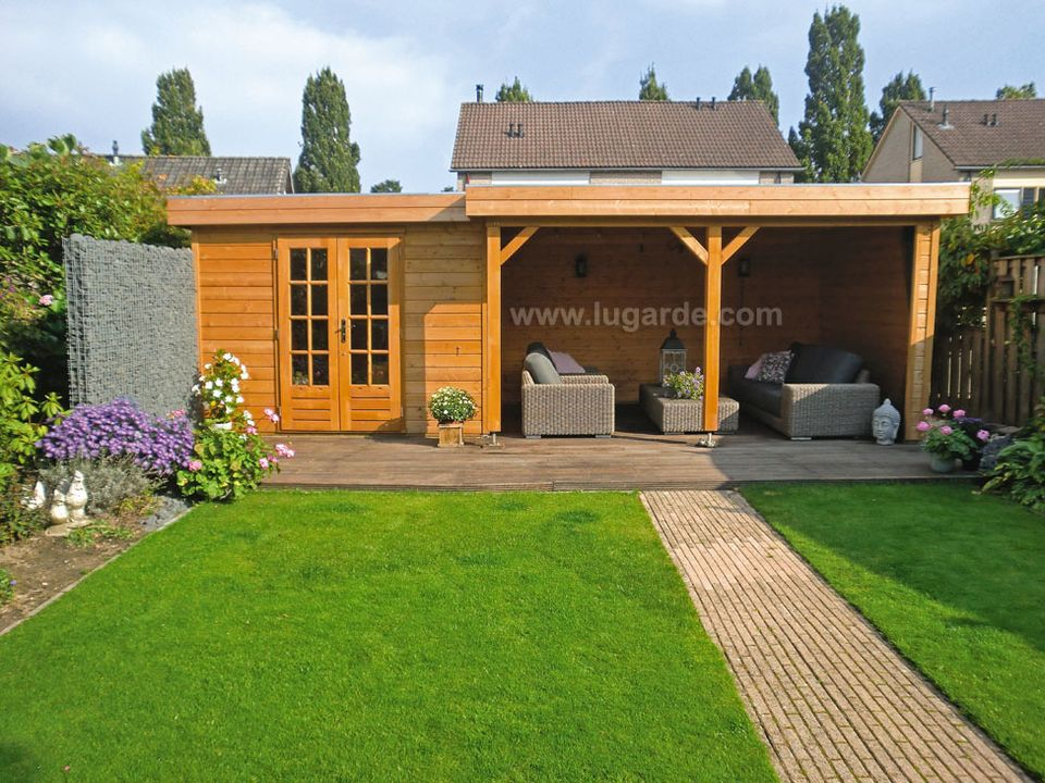 Lugarde Prima Lewis flat roof summerhouse
