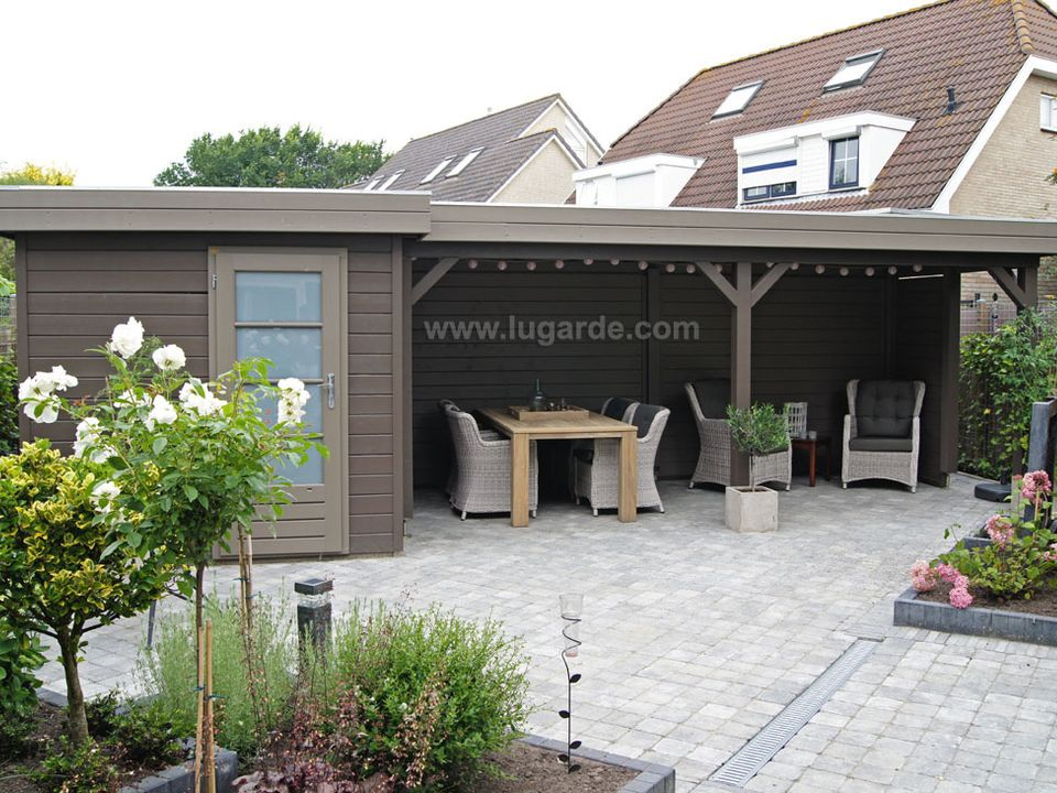Lugarde Prima Willow flat roof summerhouse