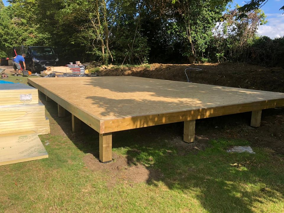 Timber base with covered surface