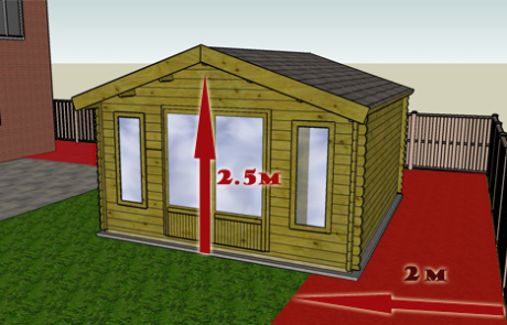 Q8. Will your cabin be over 2.5 metres high within 2 metres of a boundary?