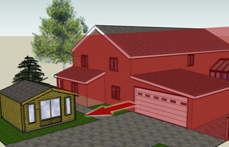 Q4. Will your log cabin be forward of the principle elevation of your house?
