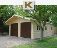 Log cabin garages & workshops
