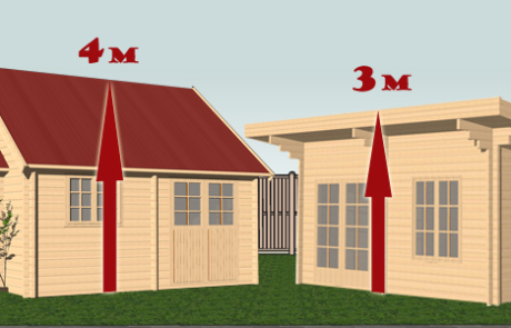 Q7. Will your cabin have a dual pitched roof with an overall height of more than 4 metres - or be over 3 metres high with any other type of roof?