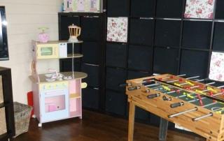 Teenage den, kids playroom - the Keops Quatra log cabin