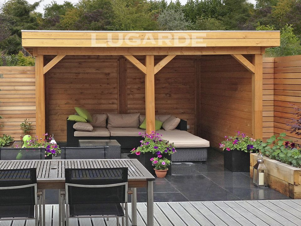 Lugarde Cadiz flat roof gazebo