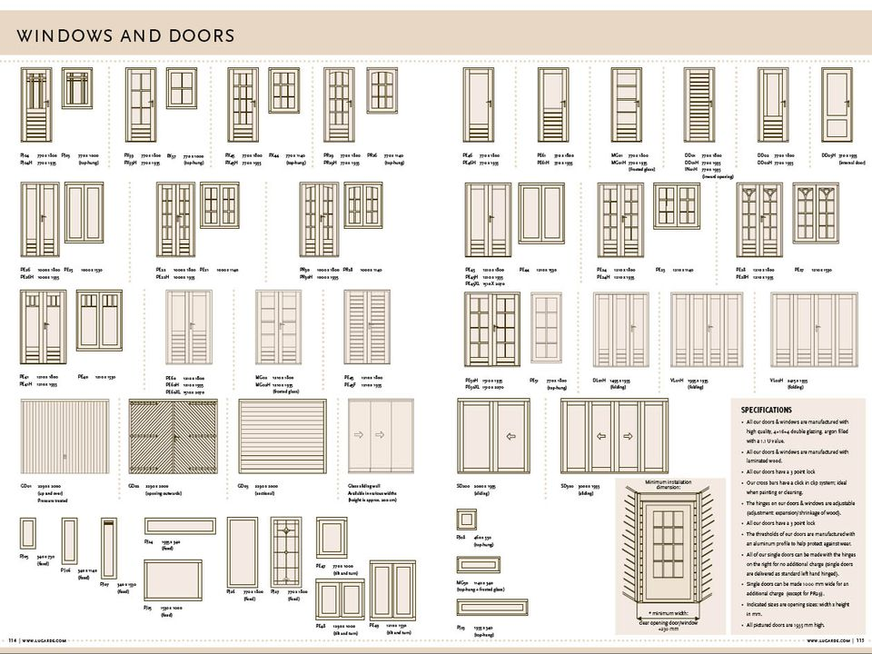 Lugarde door & window range