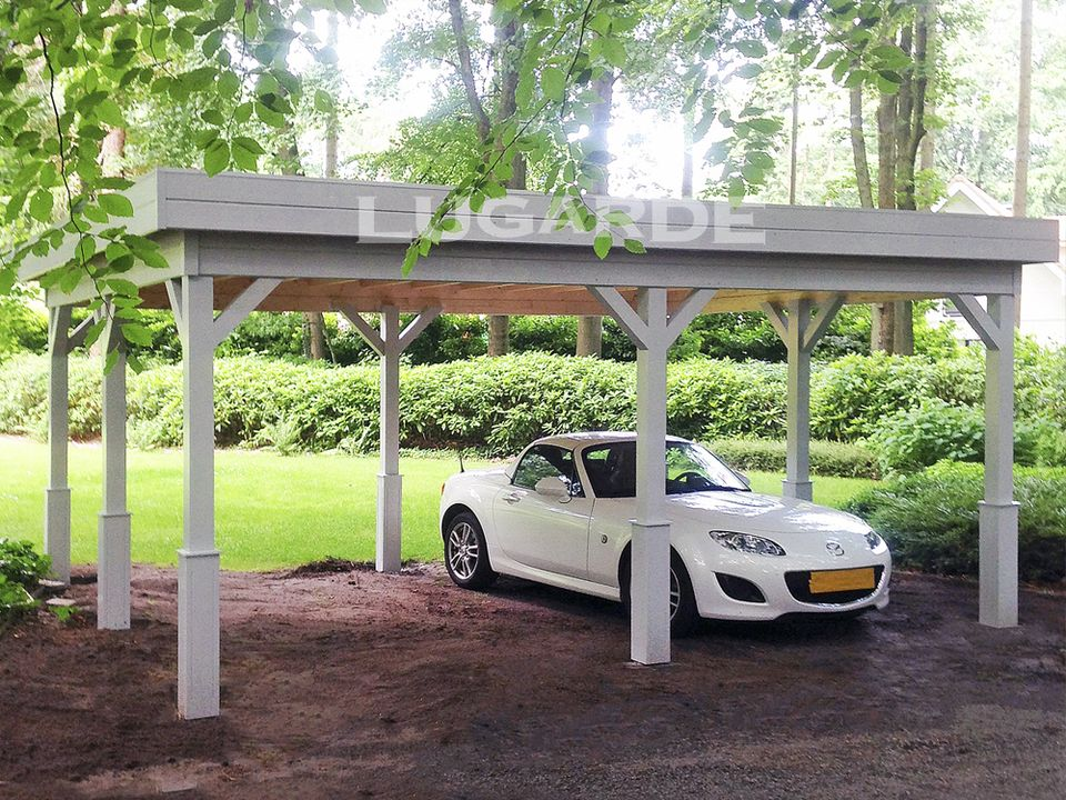 Lugarde Iowa flat roof carport