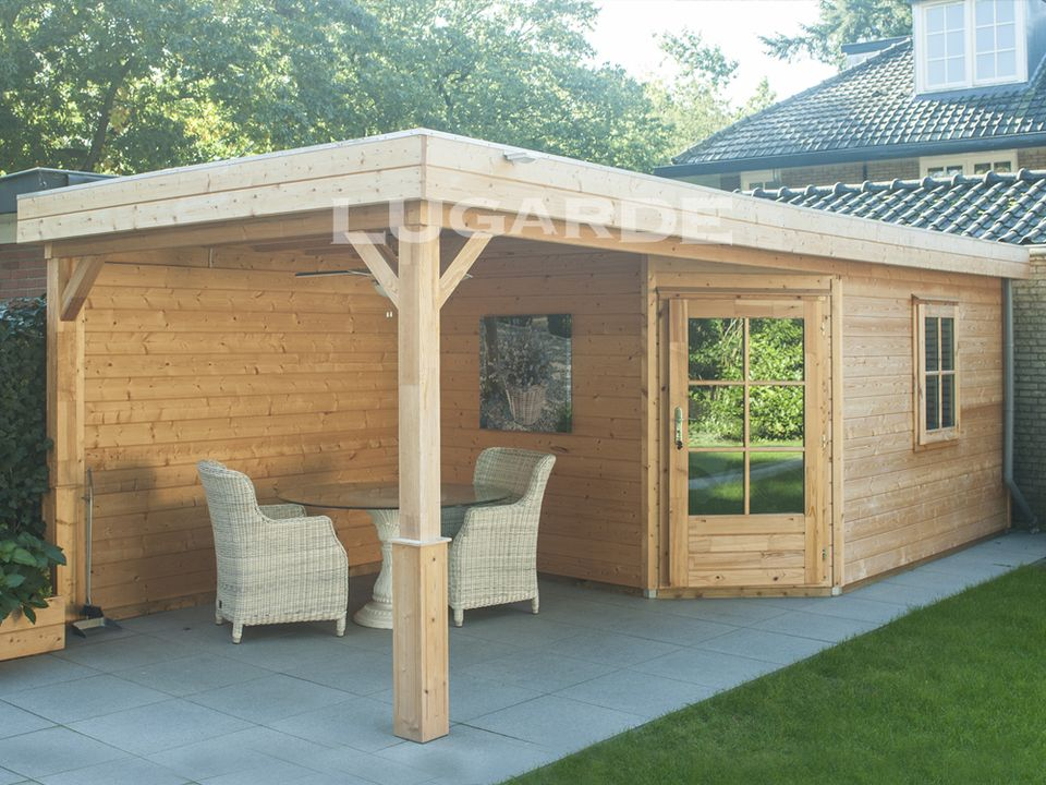 Lugarde Prima Leo flat roof summerhouse with corner door