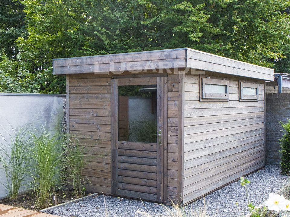 Lugarde Prima Mason flat roof summerhouse