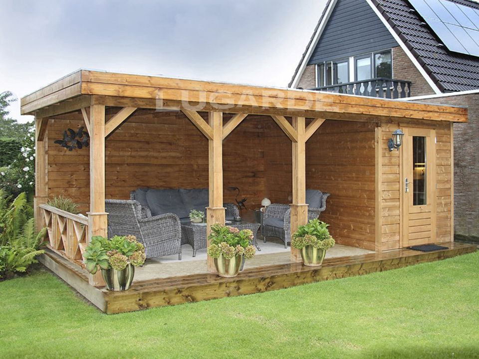 Lugarde Prima Alex flat roof log cabin