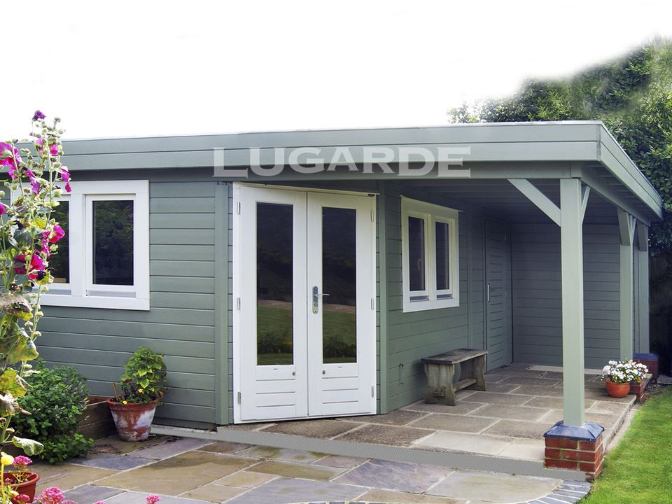 Lugarde Prima Isla flat roof sumerhouse with corner door