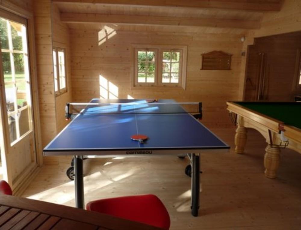 Mr V's games room log cabin