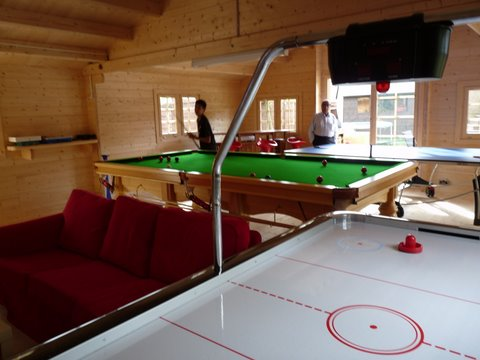 Air hockey and pool tables