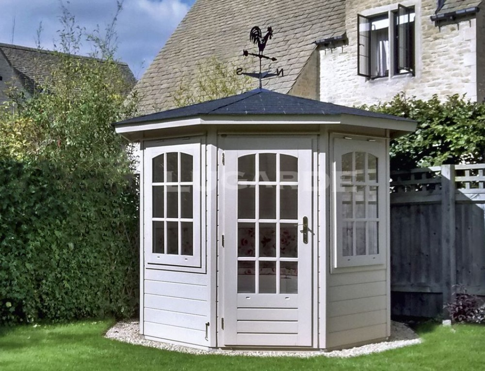 New Lugarde octagonal summerhouses under 2.5m tall