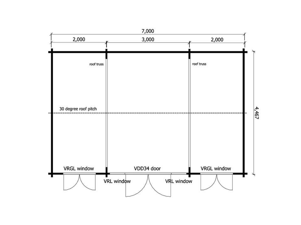 Mr S gym log cabin floor plan