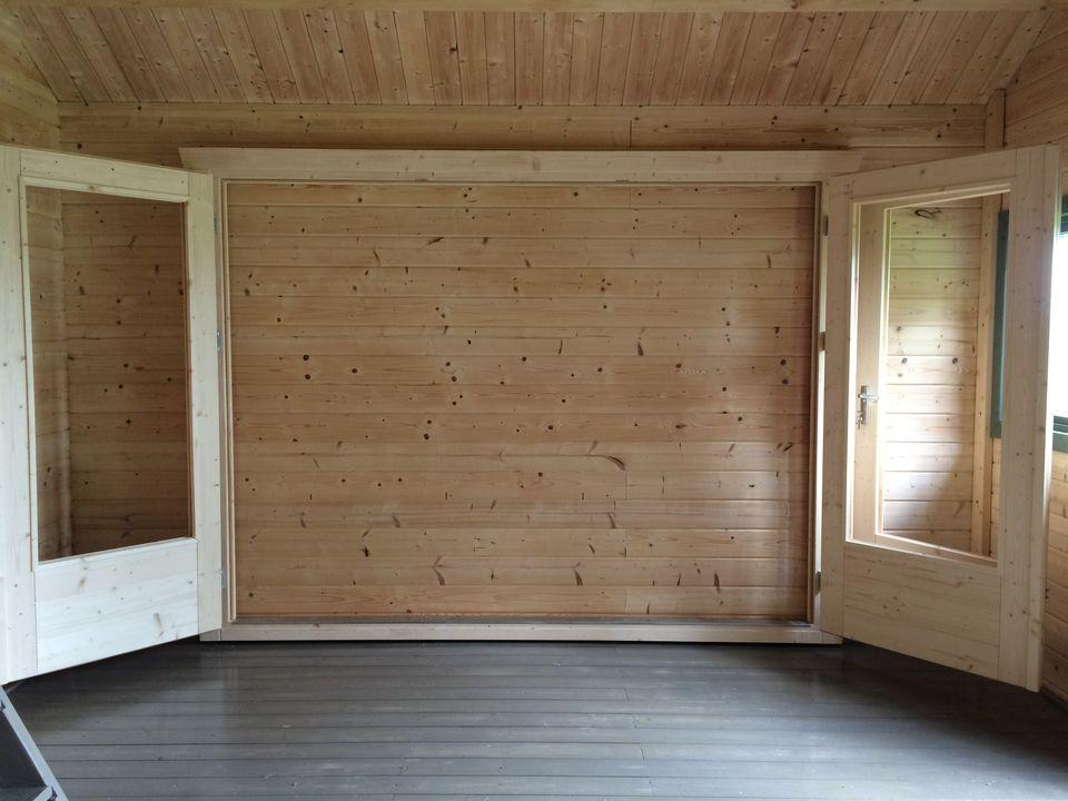BF3 3 panel bi fold door open