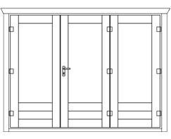 Keops BF3 bi-folding door with 3 panels
