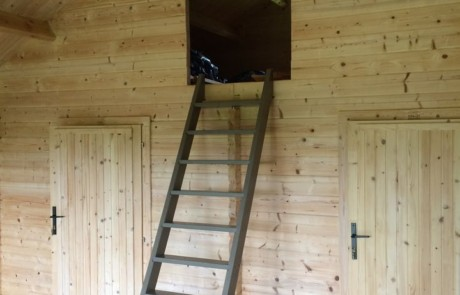 Keops Forest Lodge with loft ladder