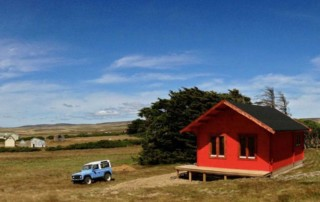 Keops Forest Lodge on the Falkland Islands