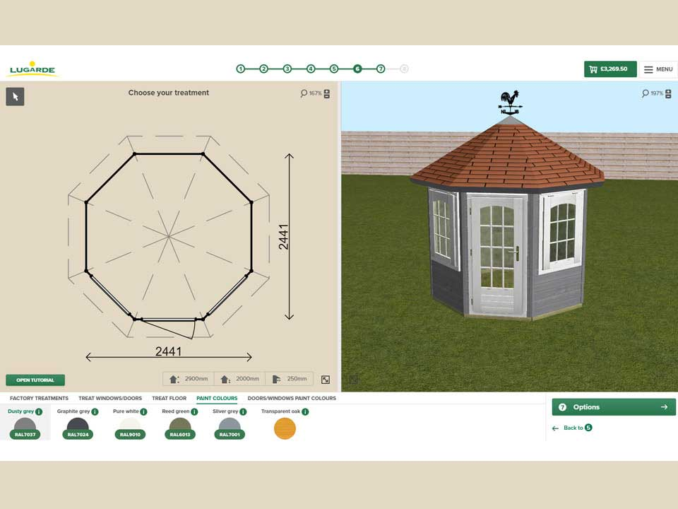 Lugarde 3D configurator - design your own log cabin