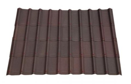 Shaded brown villa roofing